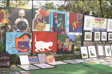 یہاں اپنی تخلیقات کی نمائش کیلئے آئے فنکار بھی اس سے کافی خوش نظر آ رہے ہیں۔