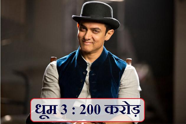 بیس دسمبر 2013 کو عامر خان کی فلم 'دھوم -3' ریلیز ہوئی تھی، اس فلم نے 200 کروڑ سے اوپر کا کاروبار کیا تھا۔ یہ 2013 کی سب سے زیادہ کمائی کرنے والی فلم بنی تھی۔