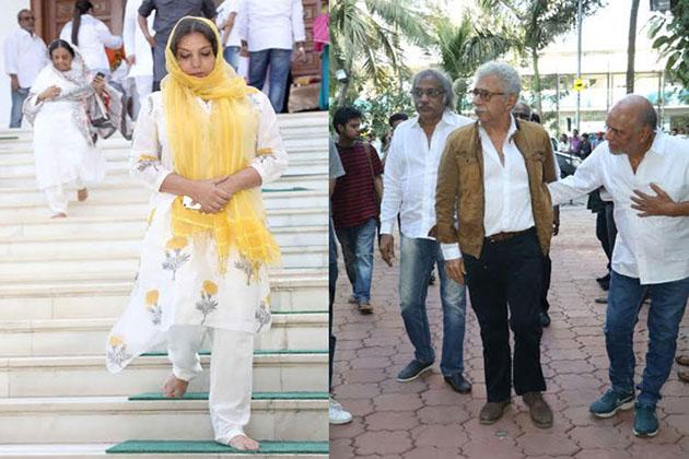 اداکارہ شبانہ اعظمی اور اوم پوری کے جگری دوست نصیرالدين شاہ۔