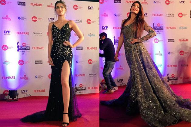 ممبئی میں منعقد ہ فلم فیئر ایوارڈ میں بالی وڈ اداکاراؤں نے اپنی خوبصورتی سے سماں باندھ دیا۔ سونم سے لے کر عالیہ تک ہر ہیروئن ایک الگ ہی انداز میں نظر آئیں۔ دیکھیں تصاویر ۔(تصاویر : فلم فیئر ٹویٹر)۔