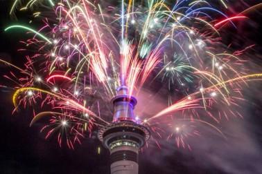 نیوزی لینڈ میں نئے سال کی تقریبات کا ایک نظارہ