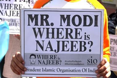 نجیب کے مسئلہ پر مرکزی حکومت نے بھی خاموشی اختیار کررکھی ہے جس کی وجہ سے ملک بھر کے مسلمانوں میں شدید غم و غصہ اور بے چینی پائی جارہی ہے ۔