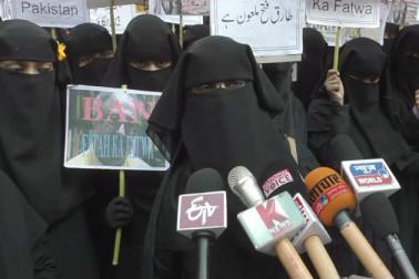 خواتین کی نمائندگی کر رہیں معہد عائشہ صدیقہ قاسم العلوم للبنات دیوبند کی پرنسپل عفت ندیم نے کہا کہ ان کا یہ احتجاج شیطان طارق فتح کے خلاف ہے ،جو پاکستان کا بھگوڑا ہے اور ایک نیوز چینل پر بیٹھ کر مستقل مسلمانوں اور اسلام کے خلاف بیان بازی کر رہا ہے۔