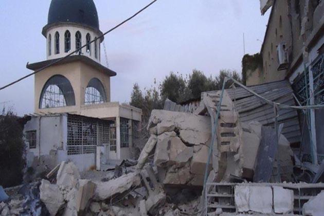 حلب :عشا کی نماز کی ادائیگی کے دوران روسی طیاروں کا مسجد پر حملہ ، 42 افراد جاں بحق