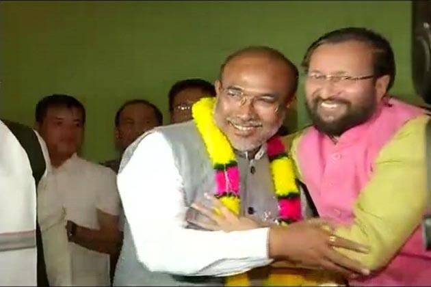 بيرین سنگھ منی پور كے نئے وزیر اعلی، ریاست میں پہلی بار بی جے پی کی حکومت