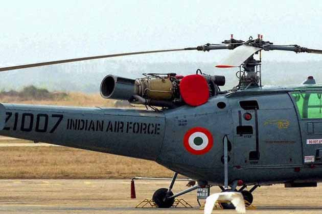 فضائیہ کا چیتک ہیلی کاپٹر الہ آباد میں حادثہ کا شکار ، کوئی جانی نقصان نہیں ، تفتیش کا حکم