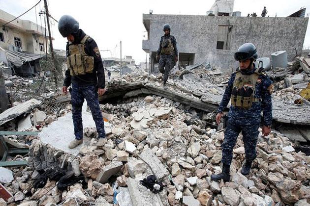 موصل کی ایک منہدم عمارت سے 61 لاشیں برآمد