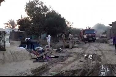 تصادم کے دوران ابراہیم لا ل خان ویلم (50) کی موت ہو گئی اور 10 دیگر زخمی ہو گئے۔