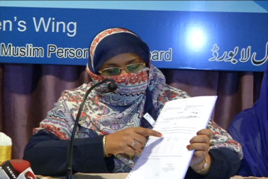 انہوں نے بتایا کہ بورڈ کی طرف چلائی گئی مہم کے تحت ملک بھر سے کروڑوں مسلم خواتین نے تحریری طور پر اپنی رضامندی بھیجی ہے ۔