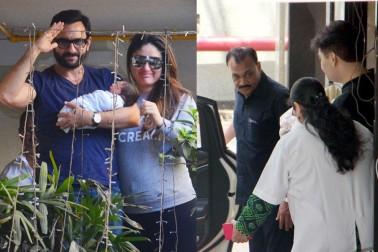 اپنے بچے کے ساتھ سیف اور کرینہ کپور خان: تصویر: يوگین شاہ۔