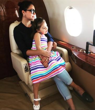 بیٹی کے ساتھ لارا دتہ: تصویر: انسٹاگرام۔