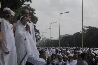 مغربی بنگال کی وزیر اعلی ممتا بنرجی عید پہنچیں۔