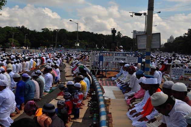 کولکاتہ میں نماز عید الفطر کا ایک منظر
