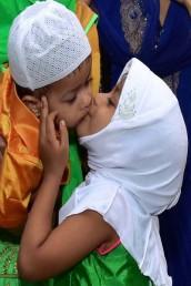 تھرواننت پورام میں بچے عید کے موقع پر