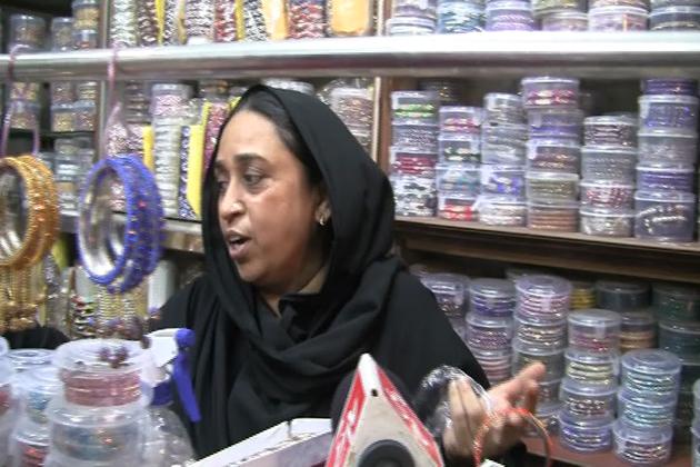 عید بازار میں اس مرتبہ جئے پور کےکنگن کی فروخت زیادہ ہے ۔