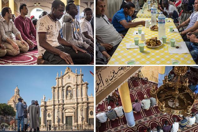 بلقان روٹ کی بندش کے بعد مہاجرين کی اکثریت ليبيا کے راستہ آج کل يوروپ پہنچ رہی ہے، جہاں ان کی پہلی منزل اٹلی ہوتی ہے۔ جہاںايک نيا ملک، نئی زبان اور نيا سماج، ان کیلئے کئی چیلنجز لے کر آتا ہے، وہیں رمضان  جیسے مقدس ماہ میں ایک انجانے شہر میں احساس تنہائی بھی انہیں خوب ستاتا ہے ۔ جانيے اٹلی کے جزيرے سسلی پر مسلمان مہاجرين رمضان المبار کيسے گزار رہے ہيں۔(تصاویر اور رپورٹڈی ڈبلیو ڈاٹ کام سے لی گئی ہیں )۔