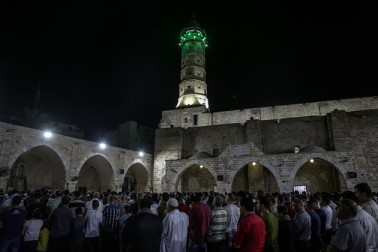 مسجد اقصی میں نماز تراویح کے ایمان افروز مناظر
