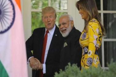 ٹرمپ جوڑے نے وزیر اعظم مودی کا گرمجوشی سے استقبال کیا