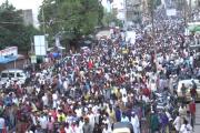گئو رکشا کے نام پر قتل کے خلاف اسد الدین اویسی کی قیادت میں ہزاروں لوگ نکلے سڑکوں پر ، شدید احتجاج