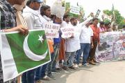 مذہب کے نام پر کی جانے والی دہشت گردی کے خلاف مجلس اتحاد المسلمین کا شدید احتجاج
