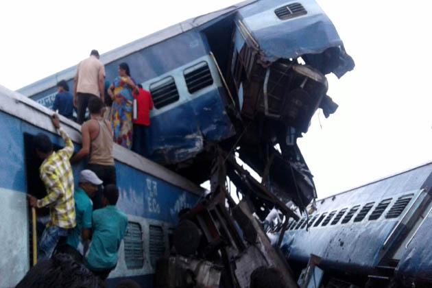 یہ ٹرین پوری سے ہری دوار جا رہی تھی۔ حادثہ مظفر نگر کے کھتولی اسٹیشن کے پاس ہوا۔