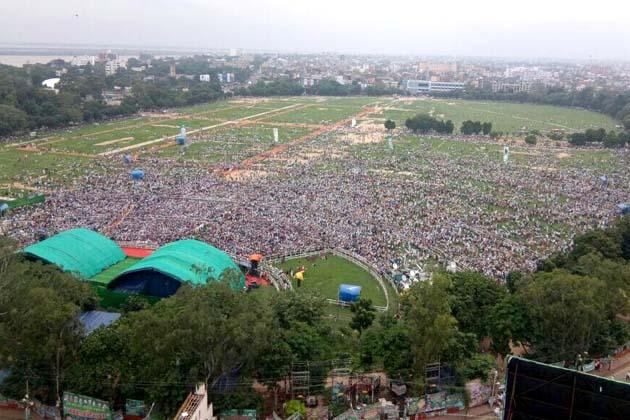 گاندھی میدان کا صبح کا ایک نظارہ