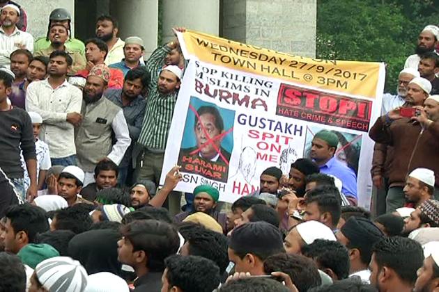 ساتھ ہی روہنگیا کے ہندو اور مسلمانوں کے ساتھ انسانی ہمدردی سے پیش آنے کی مرکزی حکومت سے اپیل کی گئی۔