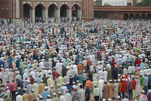 نئی دہلی میں نماز عید الاضحی کا ایک منظر