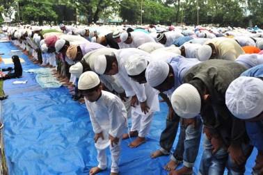 گواہاٹی  میں نماز عید الاضحی کا ایک منظر