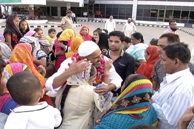 احمدآباد انٹرنیشنل ایئرپورٹ پر حجاج کرام کی واپسی کا سلسلہ شروع