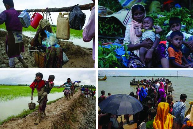 روہنگیا مسلمانوں کا بحران دن بدن شدت اختیار کرتا جا رہا ہے۔ تشدد کی وجہ سے نقل مکانی کر کے بنگلہ دیش پہنچے روہنگیا مسلم پناہ گزینوں کی تعداد تقریبا چار لاکھ 30 ہزار پر مستحکم ہو گئی ہے۔ اقوام متحدہ کے انسانی حقوق کے ہائی کمشنر کا کہنا ہے کہ میانمار میں روہنگیا کمیونٹی کی 'نسلی صفائی ہو سکتی ہے۔ اگلی سلائیڈ میںدیکھیںروہنگیا مہاجرین کے راکھین سے کوکس بازار تک کے سفرکی کہانیاں