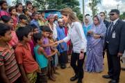 اردن کی ملکہ رانیا نے بنگلہ دیش میں روہنگیا پناہ گزینوں کے کیمپ کا کیا دورہ