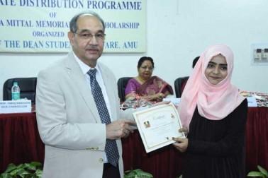 علی گڑھ مسلم یونیورسٹی کی 88 طالبات کو شریمتی ارمیلا متّل ٹرسٹ کی جانب سے اسکالر شپ