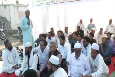مہاراشٹر وقف بورڈ کی زبوں حالی کے خلاف جماعت اسلامی ہند کا دھرنا