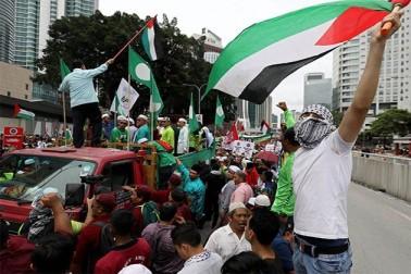 پاکستان میں جماعت اسلامی اور دیگر مذہبی اور سیاسی جماعتوں کی اپیل پر ہزاروں افراد نے فلسطینیوں اور القدس کی حمایت میں شرکت کی۔