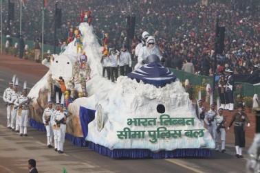 ہندوستانی تبتی سرحدی فورسیز کی جھانکی