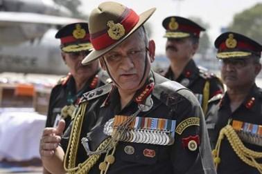 در اندازوں کی مدد سے پاکستان باز نہیں آیا تو ہم سخت کارروائی کریں گے : فوجی سربراہ جنرل راوت