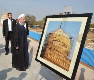 صدر ایران جمعہ کی صبح 9بجے گنبدان قطب شاہی پہنچے۔ ان گنبدوں کی تزئین نو اور بحالی کے پراجکٹ کا آغاز آغاخاں ٹرسٹ فار کلچر اور تلنگانہ حکومت کے محکمہ آرکیالوجی کے میوزیمس کے درمیان یادداشت مفاہمت کے ذریعہ ہوا تھا۔