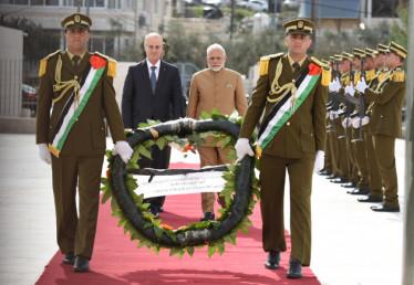 مسٹر مودی نے کہا کہ ہندستان اور فلسطین کے تعلقات آزمائش پر کھرے اترے ہیں اور ہندستان کی خارجہ پالیسی میں فلسطین ہمیشہ سرفہرست رہا۔