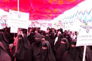 مہاراشٹر: تین طلاق بل کے خلاف لاتور میں سینکڑوں خواتین کا احتجاج
