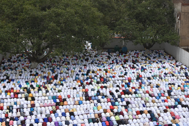 رانچی میں عید الفطر کی نماز کا منظر کافی دلکش تھا۔