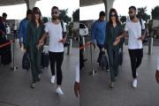 شوہر وراٹ کوہلی کے ساتھ ایئر پورٹ پہنچی اداکارہ انوشکا شرما ، دیکھیں اس جوڑی کی خوبصورت تصویریں