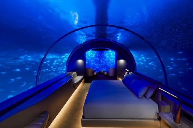 مالدیپ میں کھلا ہے پہلا انڈرواٹر ہوٹل۔ چار راتوں کا پیکیج 1.4 کروڑ روپیے(2 لاکھ ڈالر) ہے۔
