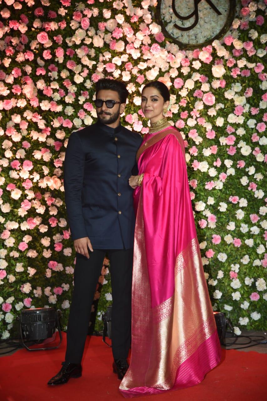 کپل کے رسیپشن میں رنویر سنگھ اور دیپیکا پاڈوکون شامل ہوئے۔ دونوں نے اس سال نومبر میں اٹلی کے کومو لیک میں شادی کی تھی۔
