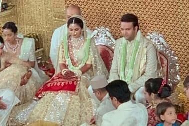 ایشا امبانی-آنند پیرامل کی شادی ستاروں اورعظیم شخصیات کی موجودگی میں ہوگئی، سوشل میڈیا پرآئیں خوبصورت تصویریں