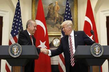 اردوغان، ٹرمپ شام میں سیکورٹی زون بنانے سے متعلق بات چیت میں تیزی لانے پر متفق