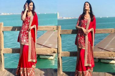وائرل تصویر: سرخ غرارے میں ایشوریہ رائے نے جیتا مداحوں کا دل، نظر آئیں بےحد خوبصورت
