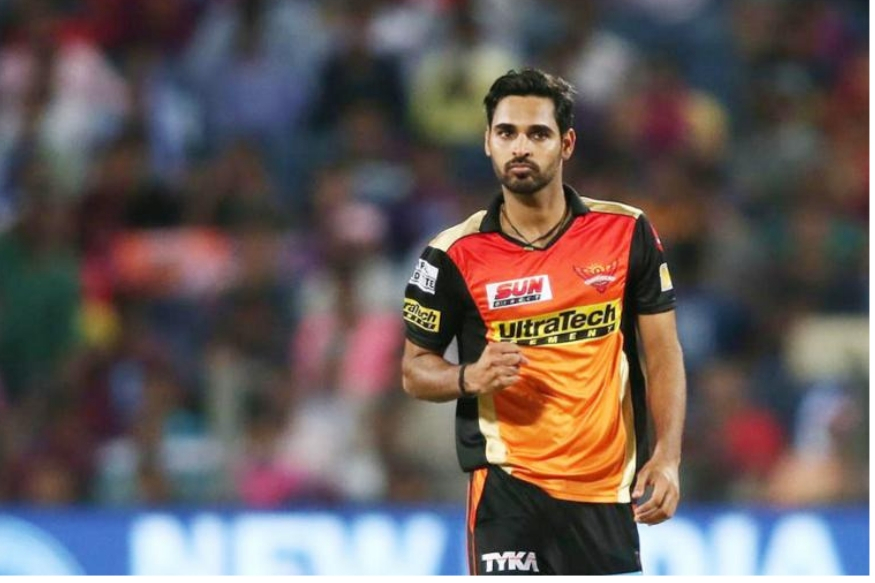 سن رائزرس حیدرآباد کی ٹیم سے بھونیشور کمار اور وجے شنکر ورلڈ کپ اسکواڈ میں حصہ بنانے میں کامیاب ہوئے ہیں ۔ ( فوٹو : ٹویٹر ) ۔