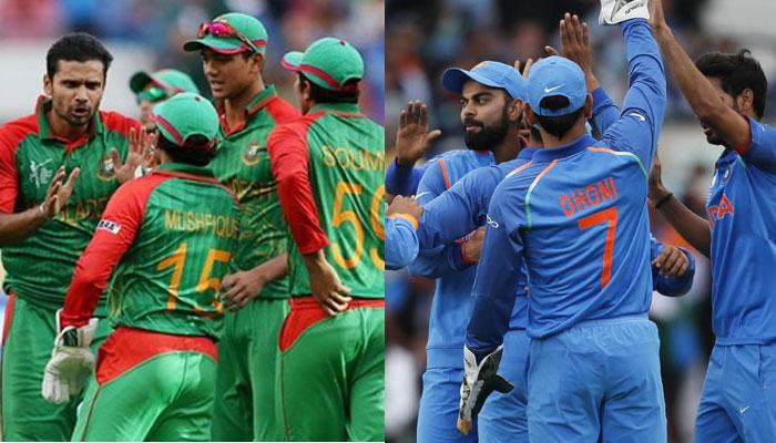 بنگلہ دیش سے بھی ٹیم انڈیا کا ریکارڈ بہت اچھا نہیں ہے ۔ ورلڈ کپ میں ٹیم انڈیا بنگلہ دیش سے دو مرتبہ جیتی ہے تو وہیں ایک مرتبہ ہار کا سامنا کرنا پڑا ہے ۔ ( فوٹو کریڈٹ : آئی سی سی آئی ) ۔