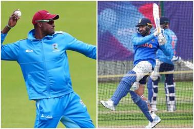 ورلڈ کپ 2019 : ویسٹ انڈیز کے خلاف ٹاس جیت کر ہندوستان کا پہلے بلے بازی کرنے کا فیصلہ